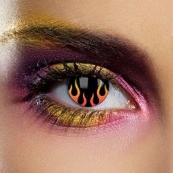 Hell's Flame Coloured Contact Lenses (90 Day)