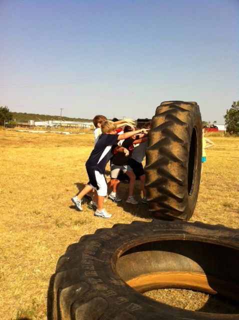 Tire Workouts Are For Kids Too Home Gym Pinterest Tire