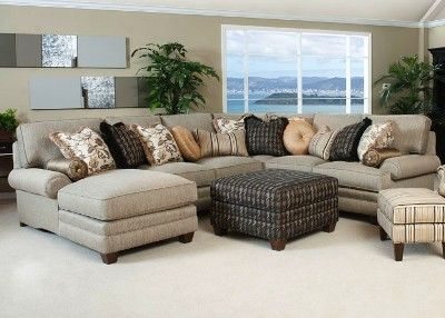 Smith Brothers Panel Arm Sectional Sectional Sofa With