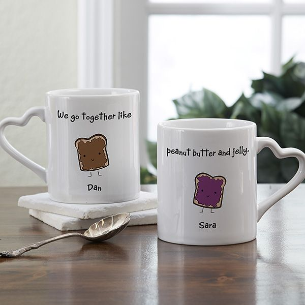Personalized His and Hers Mug Set - We Go Together Design | DIY ...