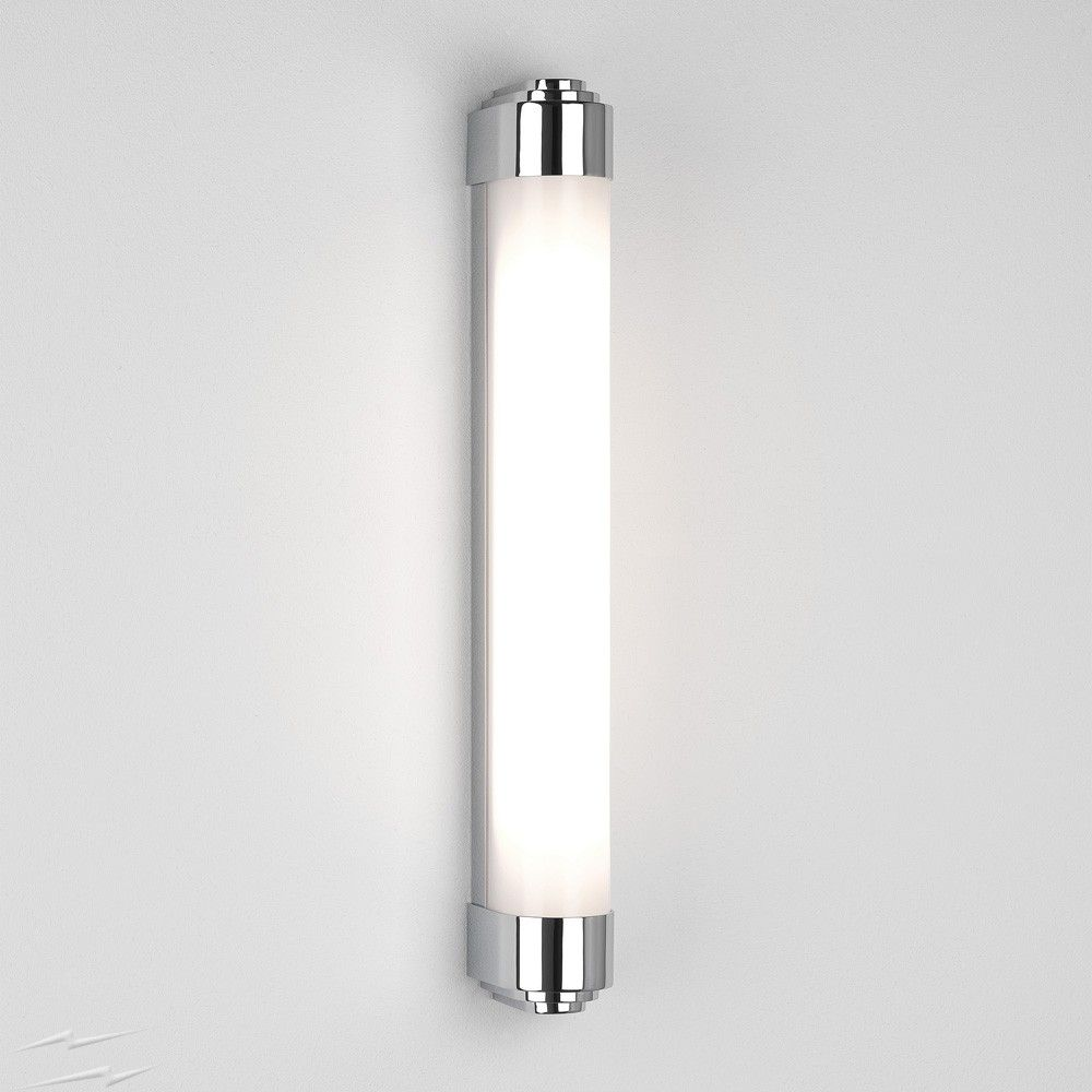 Belgravia 600 Led Bathroom Wall Light In Polished Chrome Using 19w Led 723lm 3000k Ip44 Astro 1110008 With Images Wall Lights Bathroom Wall Lights Bathroom Light Fittings