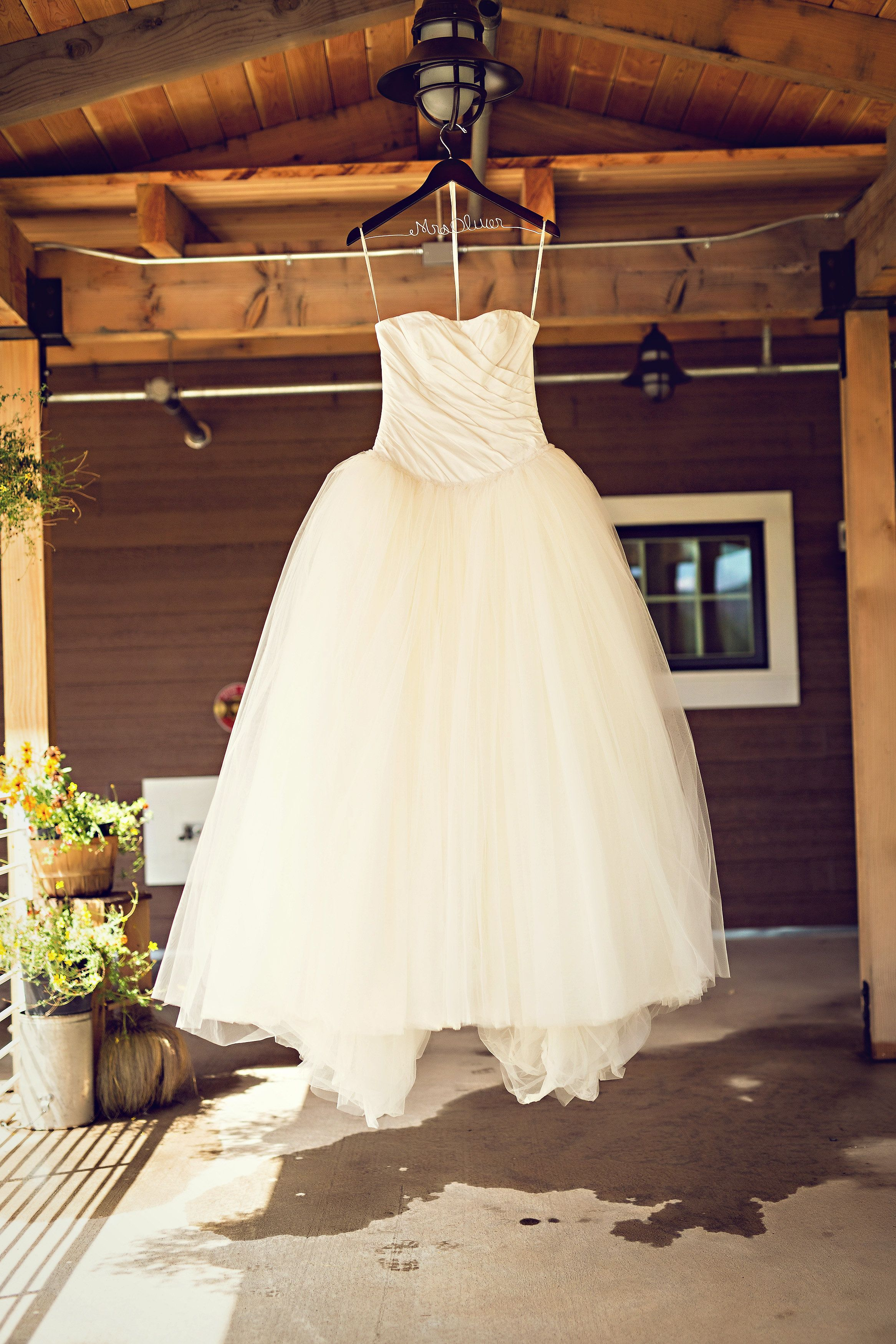 Ballgown dresses with simple ruching perfect for the big day view