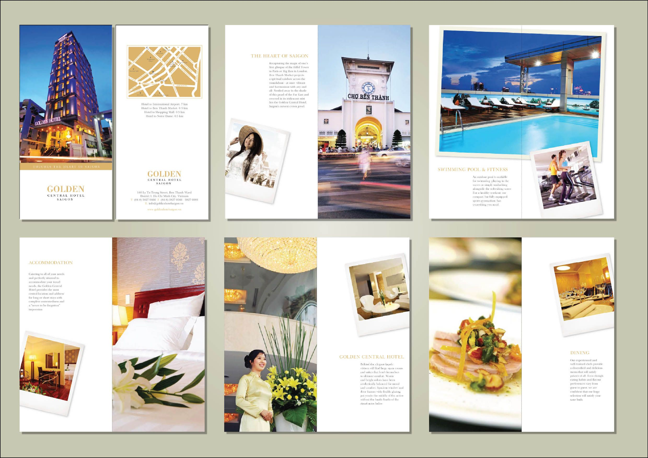 Hotel Brochure Packet Example  Graphics    Hotel
