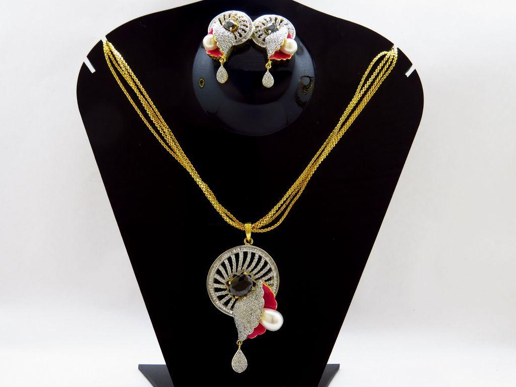 American Diamond Jewellery CZ Diamond Necklaces Online Shopping
