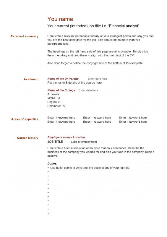 blank resume templates for microsoft word awesome download