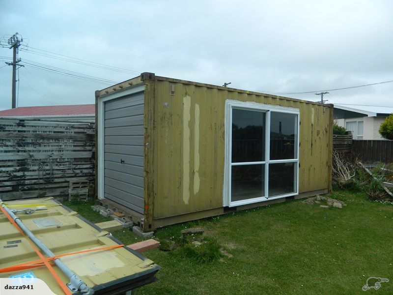 Shipping Container garage Portable buildings, Building