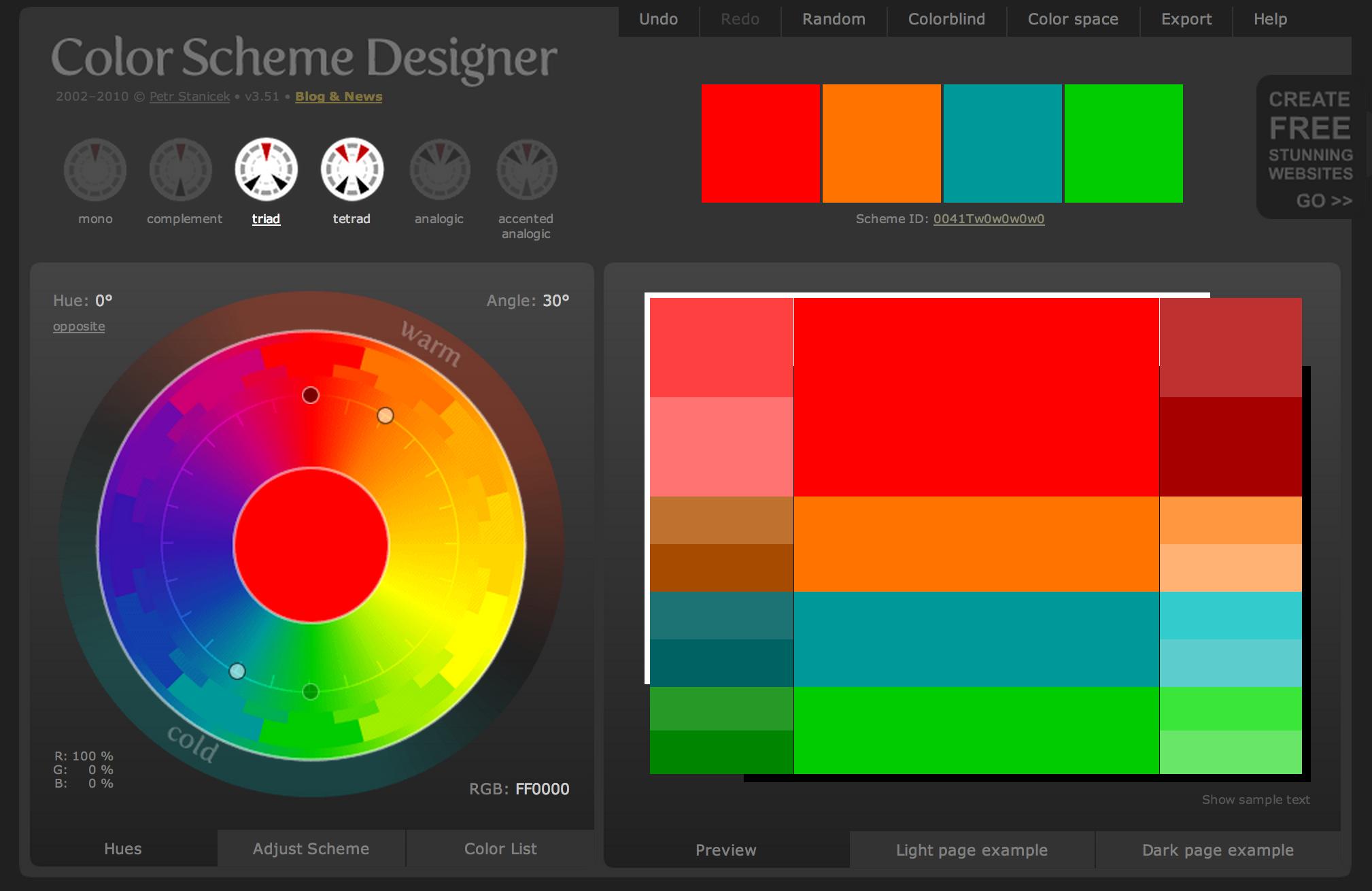 Color Scheme Designer | Interesting Colors | Pinterest