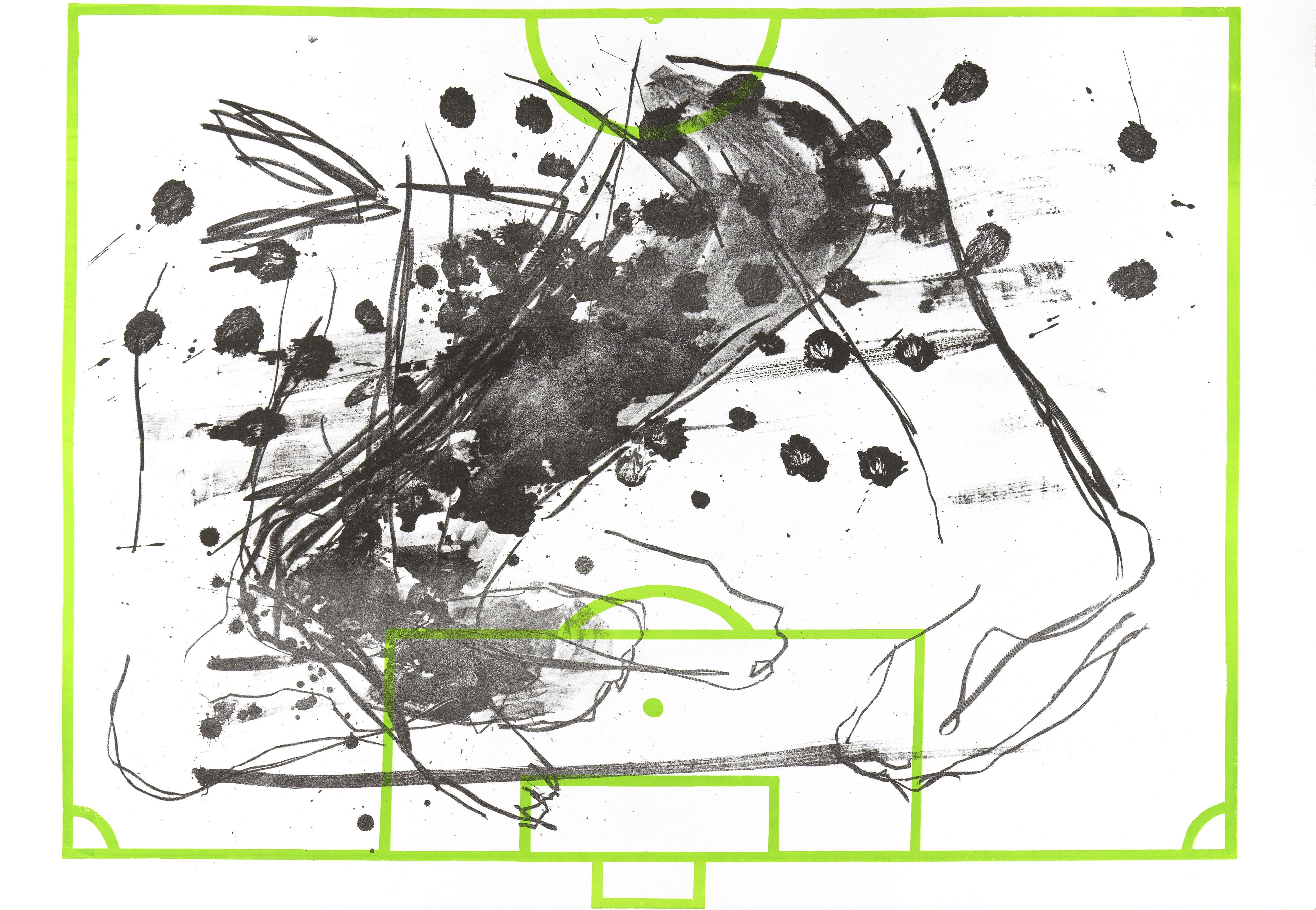 Art / Kunst, Print, Printmaking, Grafik, Druckgrafik, Artist/Künstler: Heike Keller, Title/Titel: Flankengott I, Technique/Technik: Lithography & Screenprint  / Lithografie & Siebdruck, Price/Preis: 490,- €