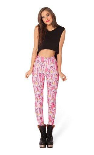 Black Milk Adventure Time Leggings Princess Bubblegum HWMF $46.55