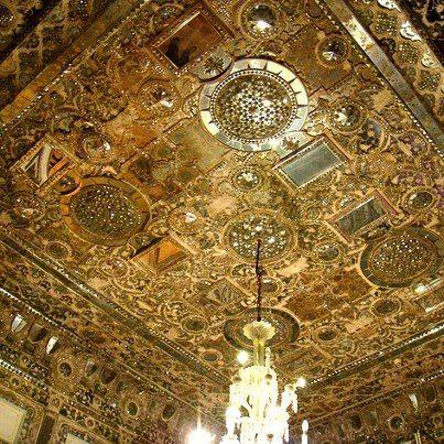 Shams-Al Emarat - detail inside of the ceiling.  #Iran