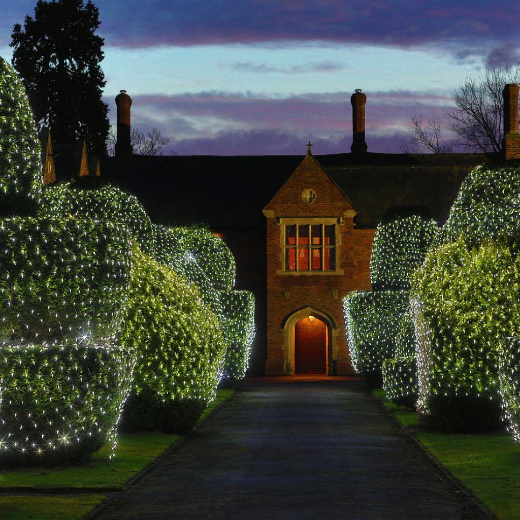 Outdoor Solar Net Lights White net christmas lights in the hedges outdoor christmas white net christmas lights in the hedges workwithnaturefo