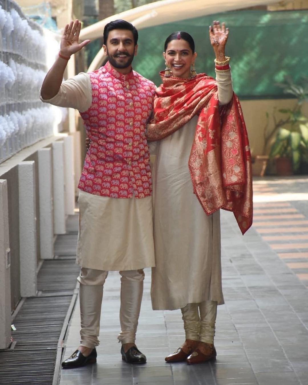 Newly Wed Deepika Padukone N Ranveer Singh Deepveerkishadi Deepveer Indian Men Fashion Indian Groom Wear Mens Indian Wear