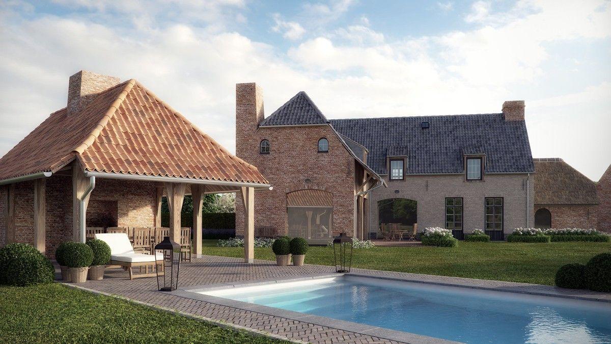 boerderij nieuwbouw project in landelijke stijl houses