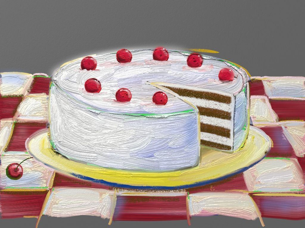 Wayne Thiebaud Birthday Cake