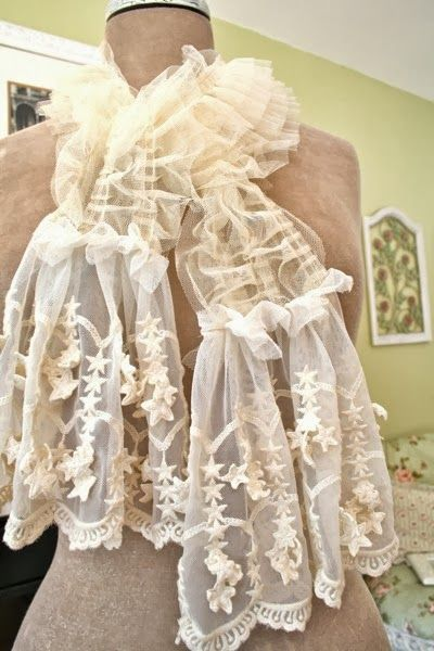 The Polka Dot Closet: Making Shabby Scarves From Vintage ...