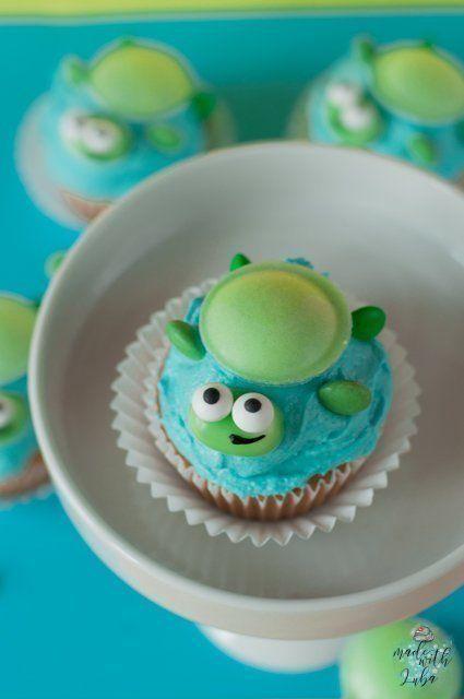 Schildkröten Cupcakes Rezept - Idee für Kindergeburtstag #cupcakesrezepte