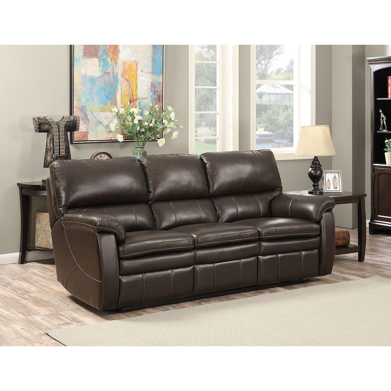 Crawford Top Grain Leather Reclining Sofa Leather Reclining Sofa