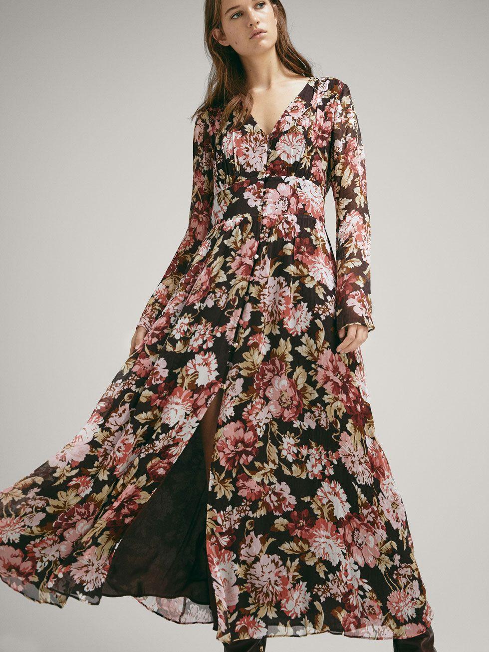 c571e51ab FLORAL PRINT CREPE DRESS - Women - Massimo Dutti | Attire | Dresses ...