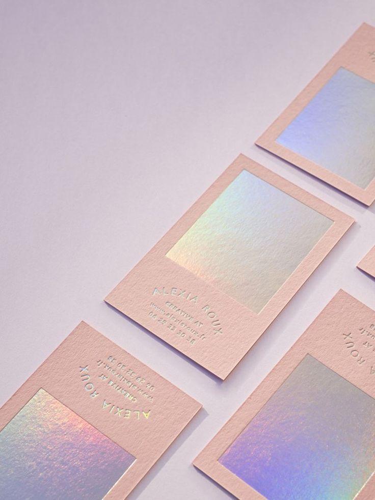 Alexia Roux Business Card Foil Business Cards Business Card Design Business Card Inspiration