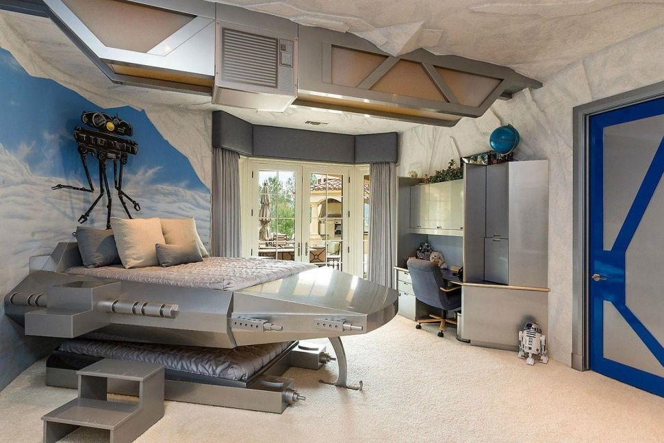The Best Star Wars Themed Room Is In This 14 9 Million Home Star Wars Bedroom Decor Star Wars Bedroom Star Wars Themed Bedroom