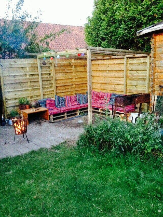 Bankje van pallet hout   Outdoor decor, Outdoor furniture ...