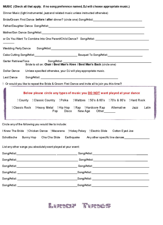 Houston Wedding Dj Contract