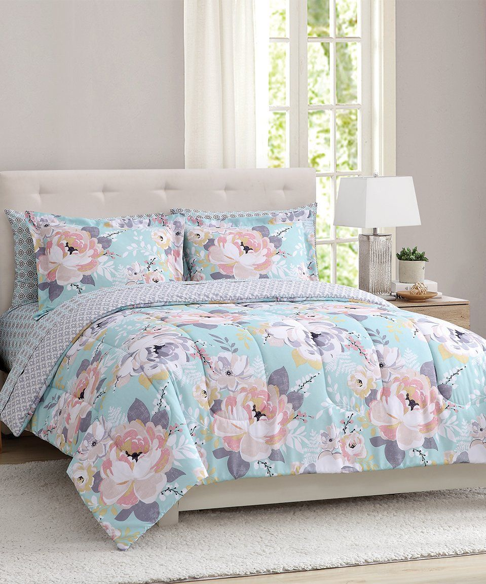 Take A Look At This Gray Pink Sara Floral Comforter Set Today