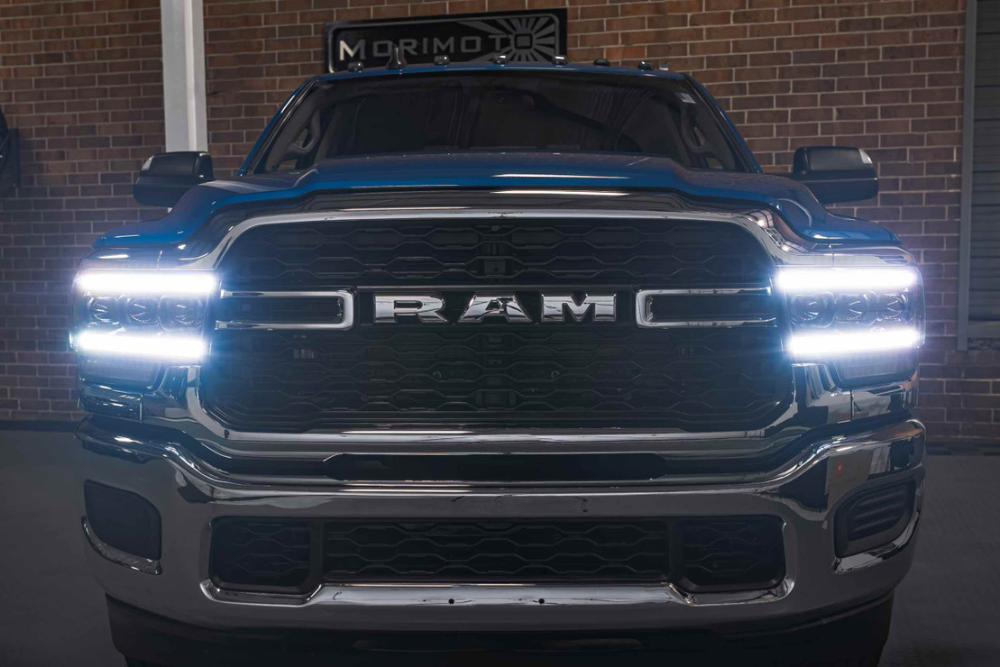 Xb Plug N Play Bi Led Headlights Ram Hd 19 I Hr In 2021 Led Headlights Led Projector Projector Headlights