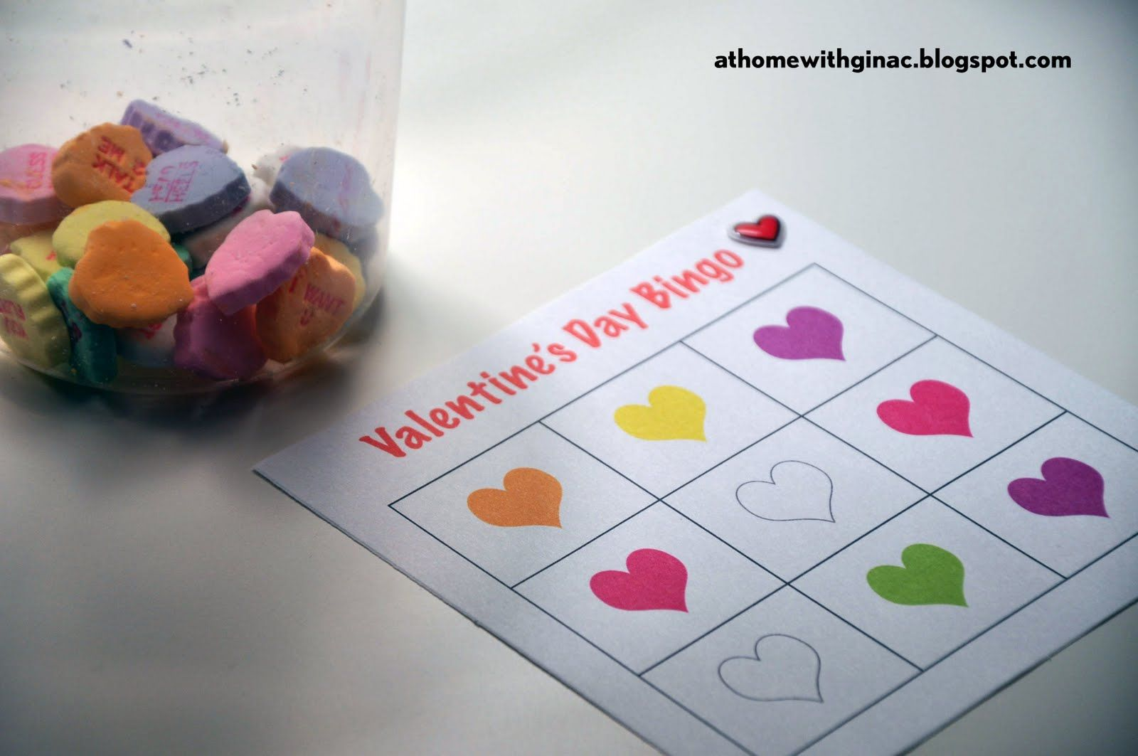 At Home With Gina C Valentine S Day Bingo Cards For Preschoolers