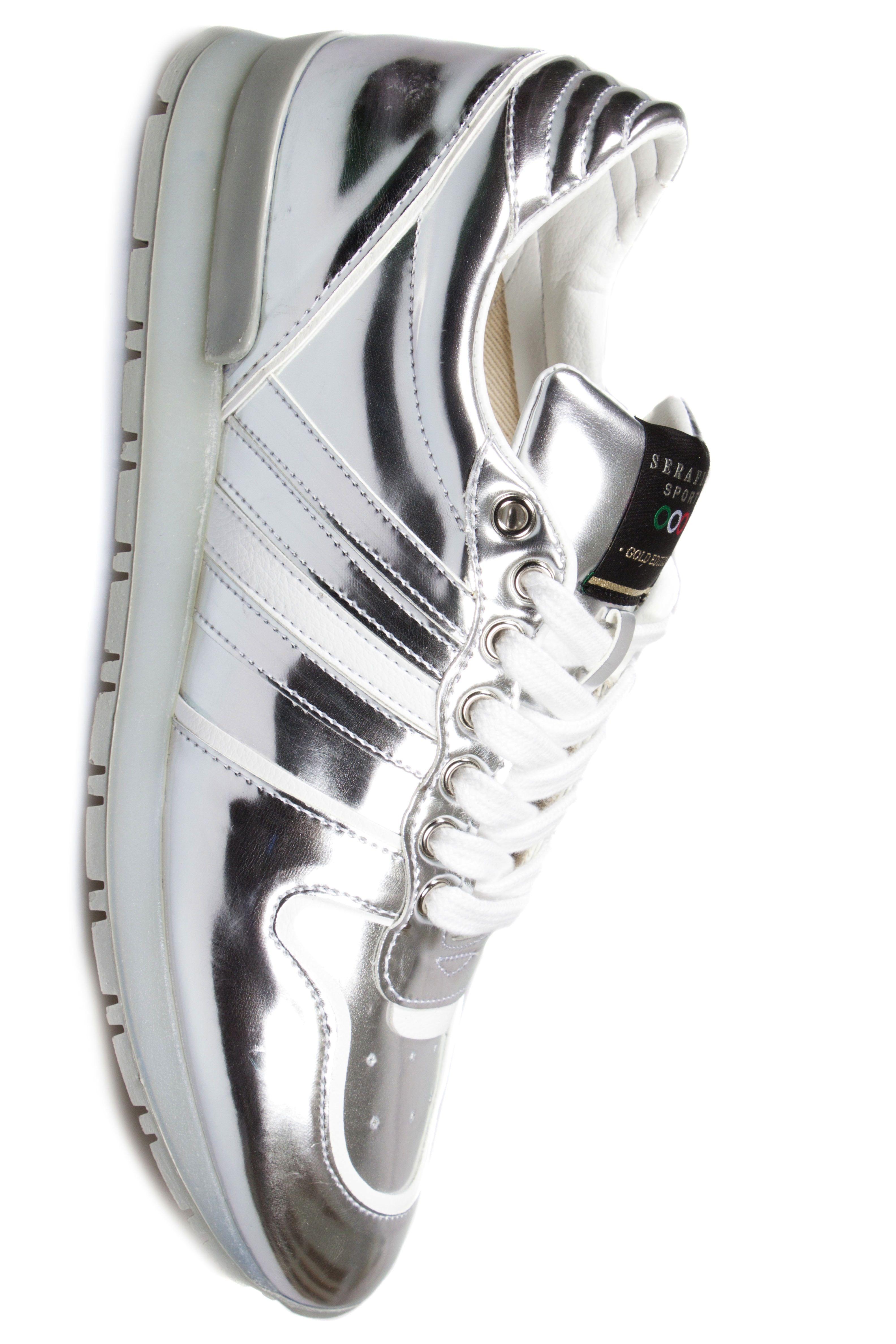 "Serafini ""V8"" silver leather - running"