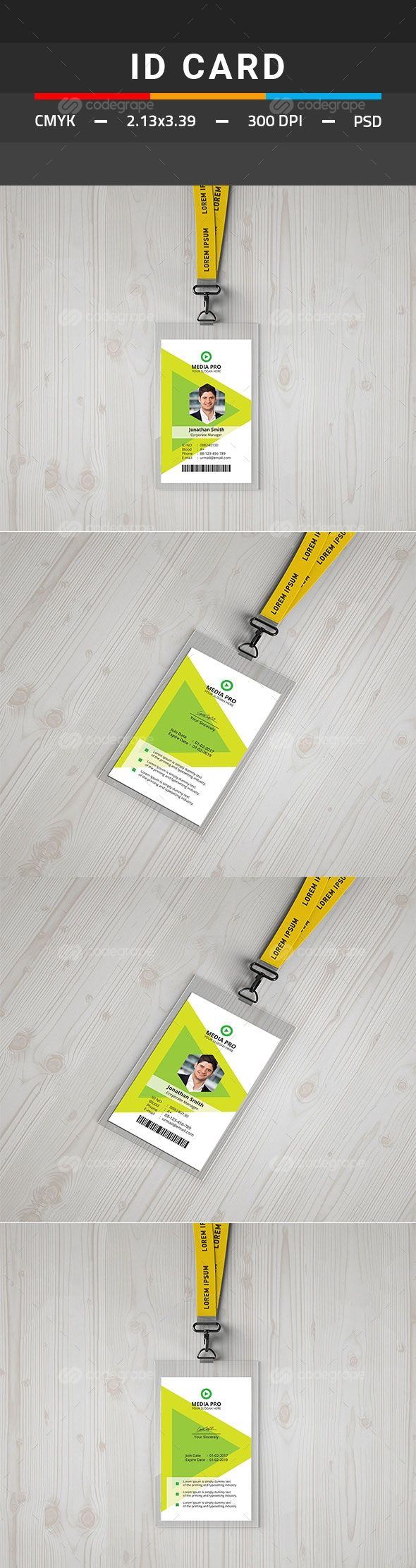 THIS IS A BUSINESS ID CARD TEMPLATE. This template download contains ...