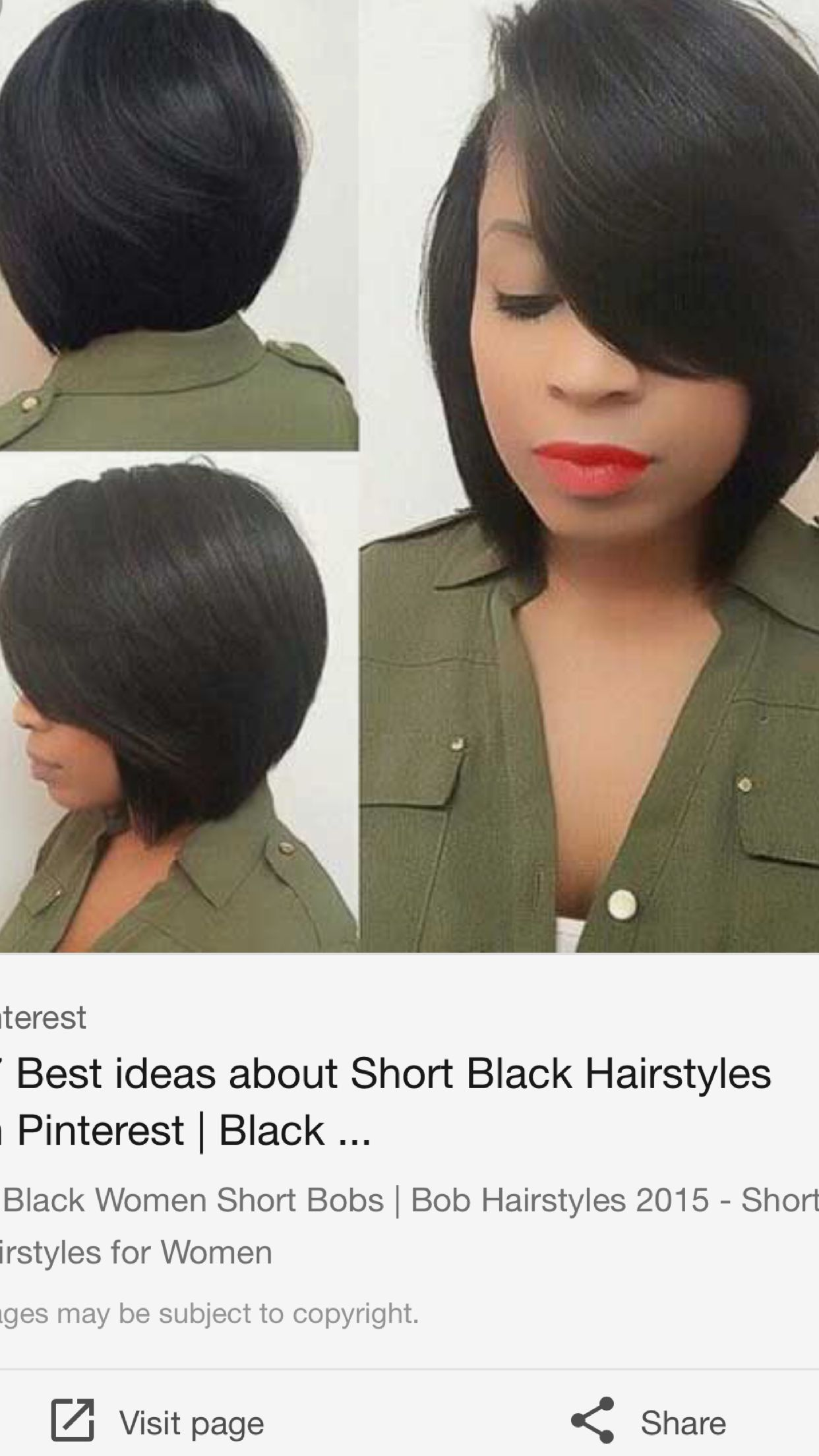 beautiful bobs for black women | african american hairstyles