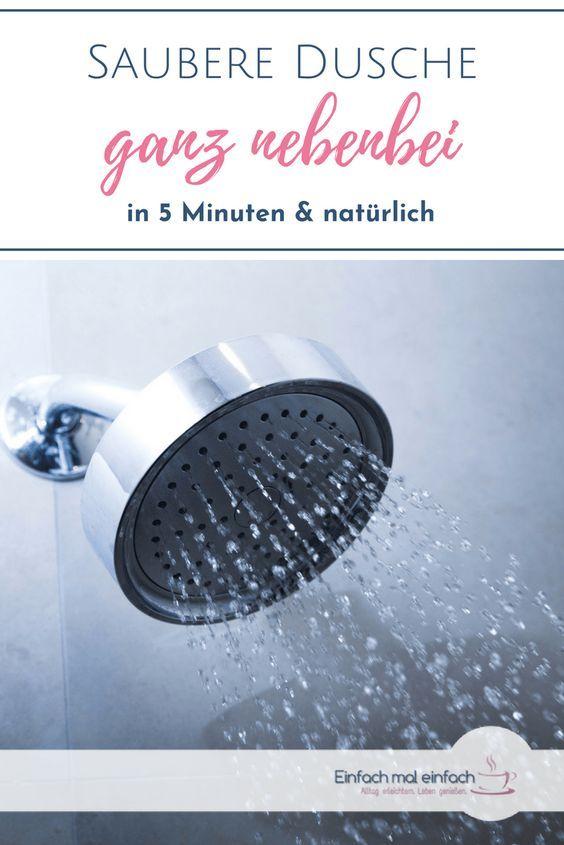 Dusche putzen ganz nebenbei Duschreiniger, Badezimmer
