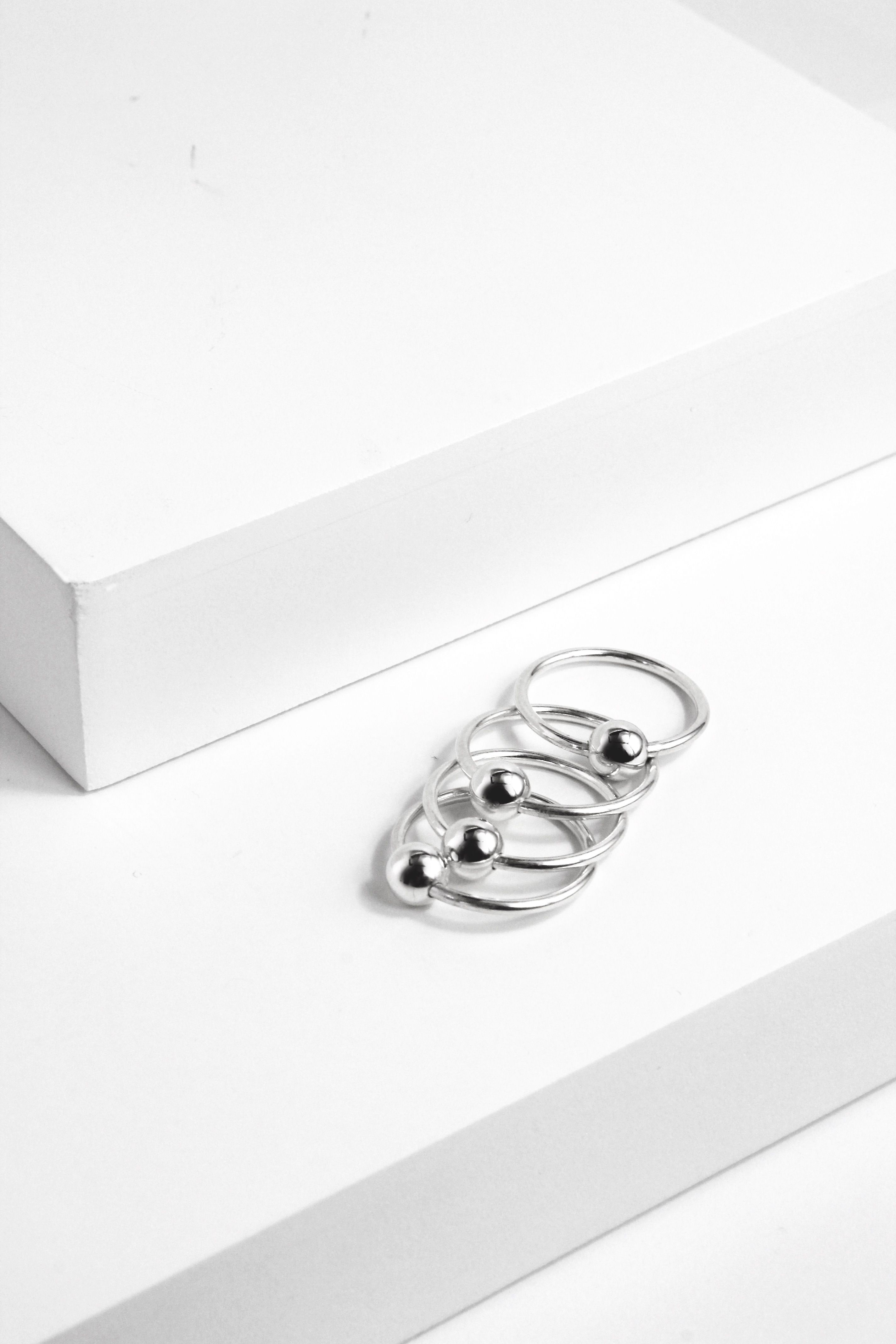 Whiteout - minimalistic silver Ring FIDES