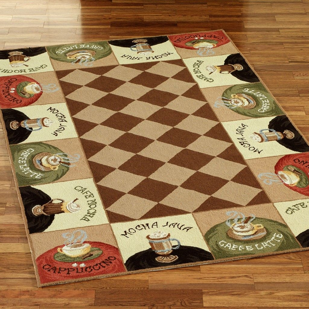 Coffee Themed Kitchen Decor Rug | Coffee/Cappuccino ...