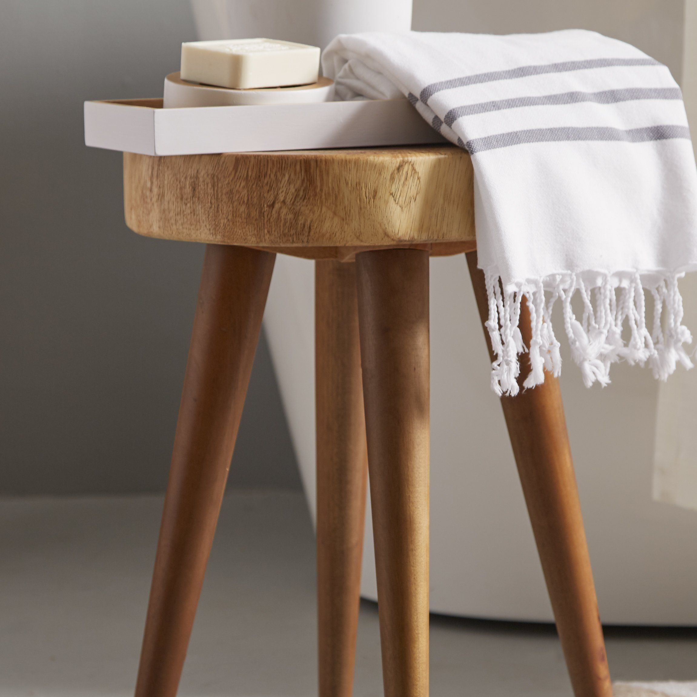 Ink Ivy Arcadia 18 Quot Stool Stool Vanity Stool Wooden Accent Table