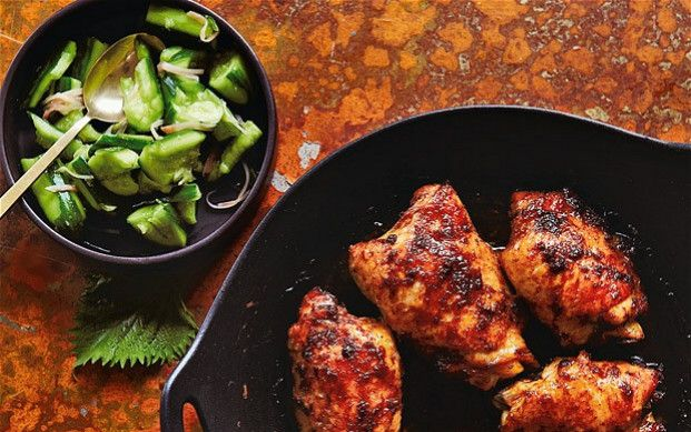 Ginger chicken with smashed Japanese cucumber recipe — The Telegraph