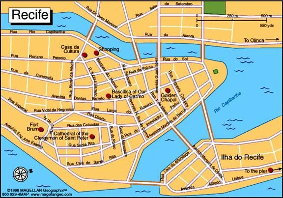 nice Recife Map Tourist Attractions Travelquaz Pinterest Recife