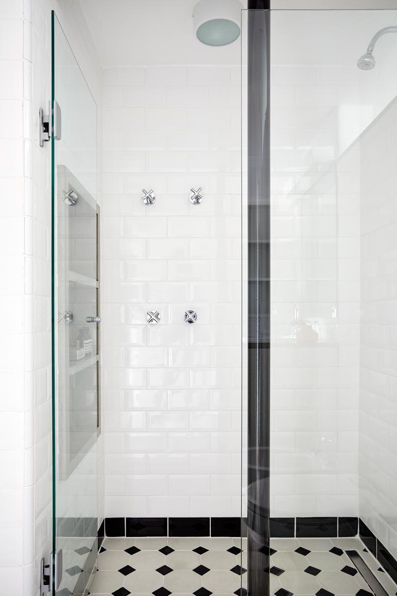 Ladrilho Hidraulico Piso Banheiro : Banheiro com piso de ladrilho hidr?ulico octogonal branco