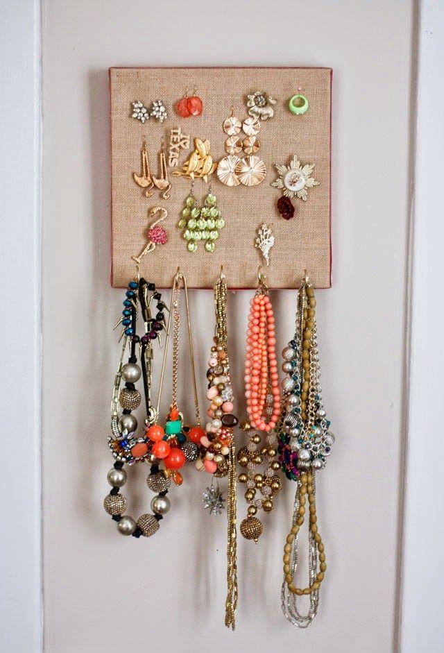 Burlap Canvas Jewelry Organizer Burlap canvas Aunt peaches and Burlap