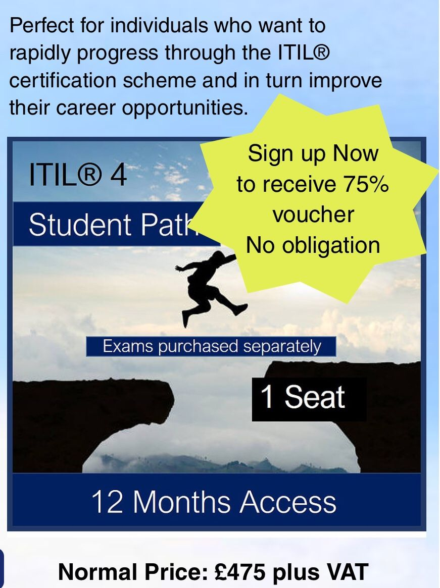 Based On A 12 Month Subscription We Have Designed The Online Itil 4