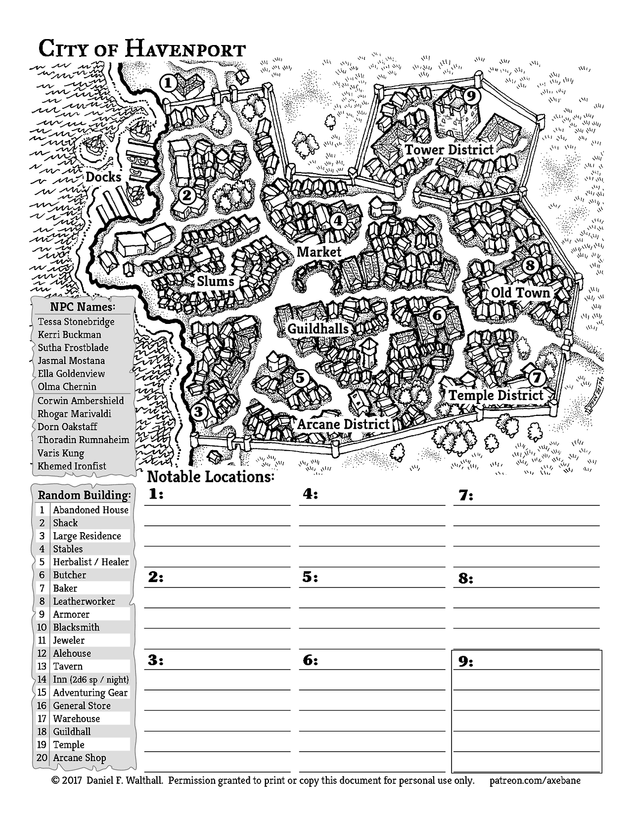 City Of Havenport Map 20 Here It Is The First City Map Funded By My Patrons At Patreon And
