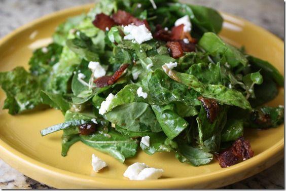 Arugula Salad Feta Fig Dressing