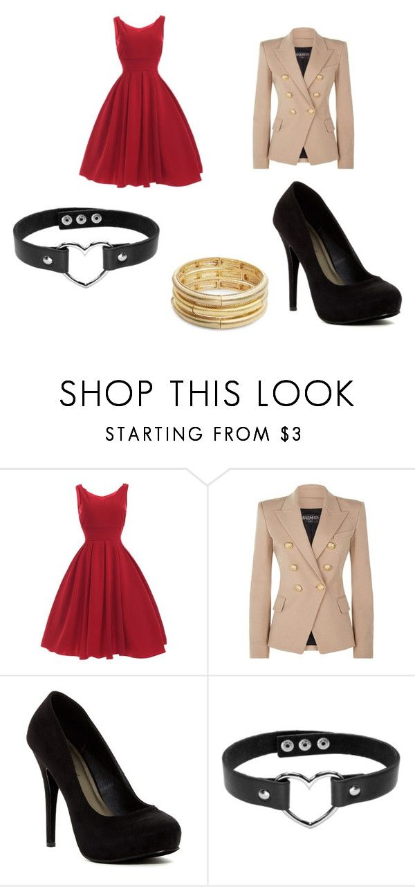 """""""Fall morning"""" by cassifitts on Polyvore featuring Balmain, Michael Antonio and Nanette Lepore"""