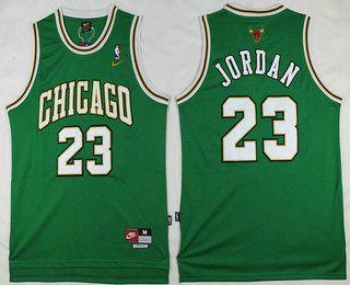 Chicago Bulls  23 Michael Jordan Green With Chicago Swingman Jers ... 629f87649