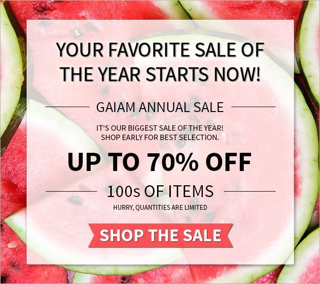 Gaiam Annual Sale Up to 70% Off Select Items! - Sales Going On That You Won't Want to Miss! | StorybookApothecary.com #gaiam #sale #shopping #summer #health #fitspo #yoga