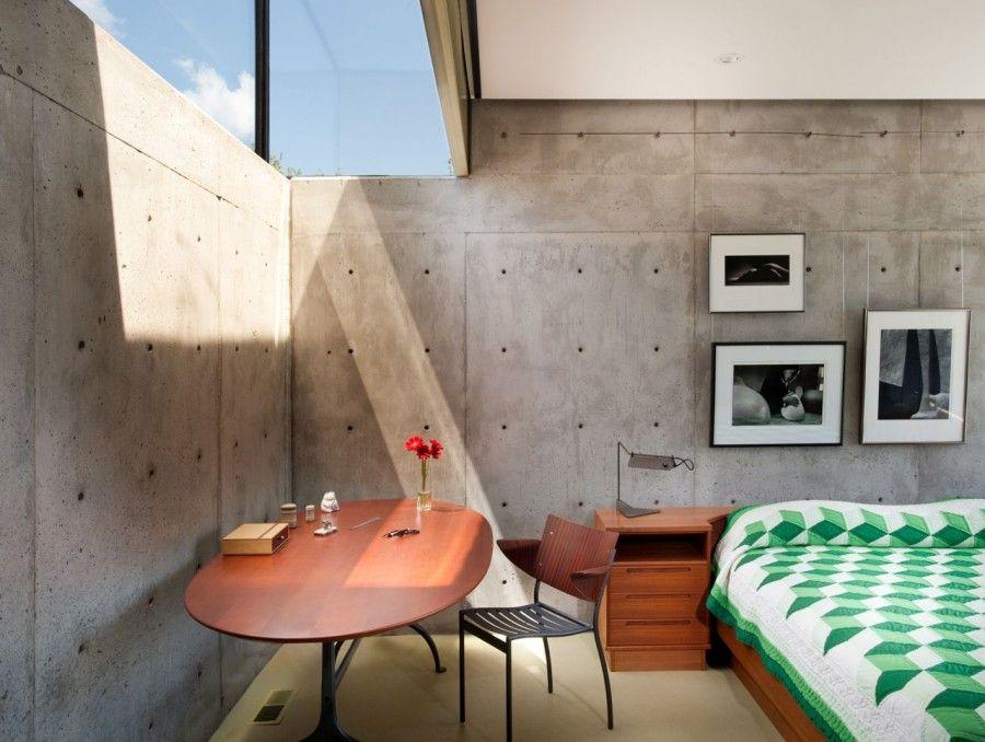 Modern concrete glass houses