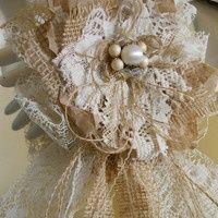 burlap corsage | burlap corsage | Kayla's Wedding Some Day