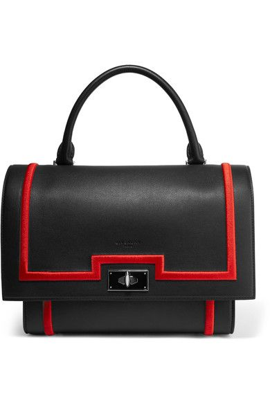 GIVENCHY Small Shark bag in black textured-leather.  givenchy  bags  shoulder  bags  hand bags  suede   ddf4c78b77850