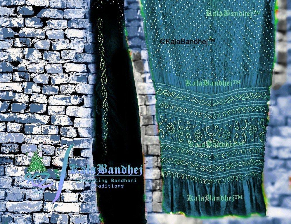4644d508d90e3 gaji silk bandhani sarees online  Kala  Bandhej gaji silk saree with  black